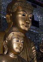 Buddhist pagoda, Shwedagon, Rangoon, Burma. 1996 - Howard Davies - &,1990s,1996,ACE,art,arts,artwork,artworks,asia,asian,asians,belief,buddha,buddhism,buddhist,buddhists,burma,burmese,conviction,developing,faith,figure,GOD,LIFE,myanmar,pagoda,PEOPLE,Rangoon,religion,