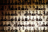 Tuol Sleng Genocide Museum, Photographs of Cambodian prisoners taken by Khmer Rouge before execution, Phnom Penh, Cambodia, 1992 - Howard Davies - , prisoner,1990s,1992,ACE,activist,activists,asia,asian,asians,cambodia,Cambodian,Cambodians,CAMPAIGN,campaigner,campaigners,CAMPAIGNING,CAMPAIGNS,Communist Party of Kampuchea,conflict,conflicts,crime