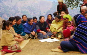 Womens co-operative meeting, part of a rural development programme supported by SCF. Baglung district, Nepal. 1997 - Howard Davies - 03-05-1997