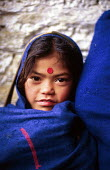 Nepalese child in a village school supported by SCF. Baglung district, Nepal. 1997 - Howard Davies - 03-05-1997