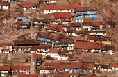 View of overcrowded shanty housing on a hillside. Ankara, Turkey. 1990 - Howard Davies - 03-05-1990