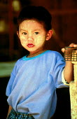 Karenni child at border refugee camp. Camp Three, Thailand. 1996 - Howard Davies - 1990s,1996,asia,asian,asians,border,burma,burmese,Camp,camps,CHILD,CHILDHOOD,children,Diaspora,displaced,foreign,foreigner,foreigners,immigrant,IMMIGRANTS,immigration,juvenile,juveniles,kid,kids,migra
