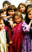 Iraqi Kurdish children, refugees from chemical weapons attacks on Halabja, Iraq. Diyarbakir refugee camp, Turkey. 1990 - Howard Davies - 03-05-1996