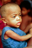 Rohingya refugee, at an MSF feeding centre, forced by the Burmese military to leave Burma because they are a Muslim minority. Bangladesh-Burma border. 1992 - Howard Davies - &,.,1990s,1992,agencies,agency,aid,armed forces,asia,asian,asians,assistance,BAME,BAMEs,bangladesh,Bangladeshi,Bangladeshis,belief,BME,bmes,burma,Burmese,camp,camps,charitable,charities,charity,CHILD,