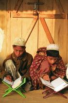Children attending a village Koran school. Sylhet District, Bangladesh. 2002 - Howard Davies - 03-05-2002