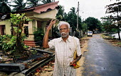 An elderly Tsunami survivor whose wife nearly died when the waves hit their house in Battacaloa on the east coast of Sri Lanka. Sri Lanka 2005 - Howard Davies - 05-03-2005