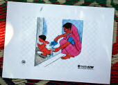 Visual guides used by public health trainers with a local NGO supported by Oxfam to teach volunteers who have been displaced by the Tsunami and are living in an IDP camp in hygiene education. Battical... - Howard Davies - 05-03-2005