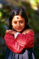 Nepali Hindu girl in a village in the Kathmandu district. - Howard Davies - 03-08-1997
