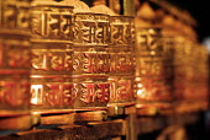 Buddhist prayer wheels at Swayambhunath stupa, in Kathmandu. Nepal - Howard Davies - 03-08-1997