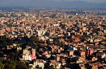 View of the city of Kathmandu, from Swayambhunath stupa. Nepal - Howard Davies - 03-08-1997