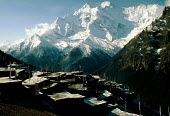 Annapurna massif in the Himalaya mountains. Nepal. Annapurna Conservation Area Project - Howard Davies - 03-05-1991