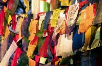 Buddhist prayer flags at Swayambhunath stupa, Kathmandu. - Howard Davies - 03-08-1997