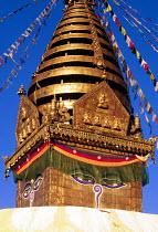 Swayambhunath Buddhist stupa in Kathmandu. - Howard Davies - 03-08-1997