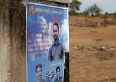 Posters for martyrs associated with the Karuna faction, which split from the Tamil Tigers in 2004 and now cooperates with the Sri Lankan military in their common fight against the LTTE. Sri Lanka 2007 - Howard Davies - 2000s,2007,against,armed forces,Civil War,conflict,indian,military,pol politics,political,POLITICIAN,politicians,politics,SERVICE,SERVICES,subcontinent,Tamil