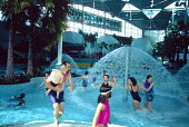 Water playground, at the Sydney Olympic Park Aquatic Centre. - Howard Davies - 03-05-1999