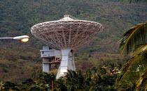 Communications satellite dish, in Saint Thomas Parish. - Howard Davies - 03-08-1997