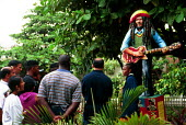 Tourists visiting Bob Marleys former house, now a Museum dedicated to the musicians life, Kingston, Jamaica 1996 - Howard Davies - 03-08-1996