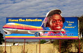 Advertising board for the airline Air Jamaica. - Howard Davies - 03-08-1997