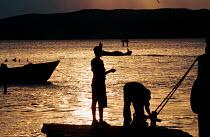 Sun setting over Kingston Harbour, Jamaica 1998 - Howard Davies - 03-08-1998