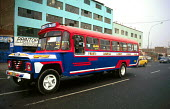 Bus in downtown Lima. - Howard Davies - 03-08-1997