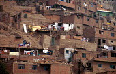 El Augustino shanty town housing, in La Victoria district, Lima. - Howard Davies - 03-08-1997