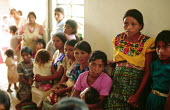 Guatemalan Maya refugee women at primary health care centre, Quetzal Edzna refugee camp in Campeche. - Howard Davies - 03-05-1990