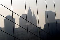 New York skyline from the Empire State Building, New York, USA 2006 - Howard Davies - 18-05-2006