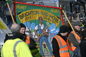 RMT workers protest in March for Jobs demonstration, Brighton, UK 2010 - Howard Davies - 06-03-2010