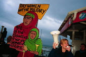 Protest against the US war in Afghanistan and the arms trade. Brighton, UK 2001 - Howard Davies - 01-08-2001