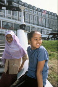 Children whose family are seeking asylum being supported by Migrant Helpline while living in temporary accommodation before being dispersed, Dover, UK 2003 - Howard Davies - 01-08-2003