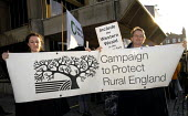 Demonstration by the campaign to Protect Rural England and other local activist groups in support of their inclusion into the proposed South Downs National Park. Hove Town Hall, UK 2007 - Howard Davies - 11-12-2007