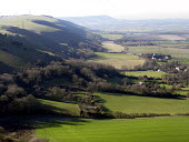 View of the South Downs which campaigners would like to become a National Park. Sussex, UK 2008 - Howard Davies - 09-02-2007