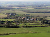 View of a village on the South Downs which campaigners would like to become a National Park. Sussex, UK 2008 - Howard Davies - 09-02-2007