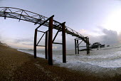 Remains of the Victorian West Pier in Brighton which is to be demolished to make way for i360 a new viewing tower. UK 2008 - Howard Davies - 28-02-2008