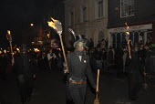 Traditional bonfire night parade in Lewes, East Sussex, commemorating Guy Fawkes and the Gunpowder Plot. UK 2008 - Howard Davies - 05-11-2008