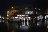 Woolworths store in the main shopping street in Brighton. - Howard Davies - 2000s,2008,bargain,bought,buy,buyer,buyers,buying,commodities,commodity,consumer,consumers,Credit Crunch,customer,customers,DOWNTURN,EBF Economy,economic,economy,evening,finance,financial,goods,High S