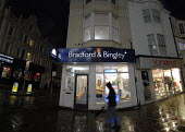 Branch of the Bradford and Bingley bank recently rescued by the British Government, in Brighton. - Howard Davies - 2000s,2008,ACE,architecture,bank,banking,banking crisis,banks,bought,building society,buildings,buy,buyer,buyers,buying,commodities,commodity,consumer,consumers,culture,customer,customers,DOWNTURN,ebf