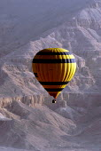 Tourists flying in hot air balloons near Luxor, Egypt 2008 - Howard Davies - 12-04-2008