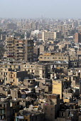 View showing overcrowded housing in central Cairo, Egypt 2008 - Howard Davies - 18-04-2008