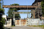 Disused gate to the Gdansk shipyard, Poland 2008 - Howard Davies - trade union,2000s,2008,capitalism,capitalist,derelict,DERELICTION,Disused,EBF,Economic,economy,gdansk,Industries,industry,maker,makers,making,member,member members,members,memorial,nautical,people,Pol