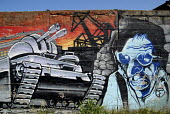 Graffiti on wall to the Gdansk shipyard, Poland 2008 - Howard Davies - 04-06-2008