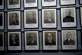 Display of photographs taken by the Nazis of Jewish people deported to the concentration camp, Poland - Howard Davies - 2000s,2008,ACE,against,anti,anti semitic,Anti Semitism,antisemitic,antisemitism,Auschwitz,BAME,BAMEs,bigotry,BME,bmes,camp,camps,chambers,concentration,culture,dead,death,deaths,deportation,deporting,