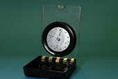 Braille compass showing magnetic north used by blind and partially sighted people, UK 2008 - Howard Davies - 27-11-2008