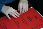 Pupil's school book marked with Braille, UK 2008 - Howard Davies - 15-12-2008