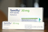 Tamiflu medicine for treatment of swine flu to alleviate the symptoms of the influenza. UK 2009 - Howard Davies - 18-07-2009