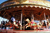 Funfair on Brighton seafront in summer, UK 2001 - Howard Davies - 01-08-2001