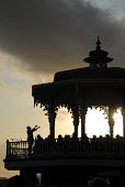 The Western Bandstand in Brighton sees its first public performance since 1974 after extensive renovation to the Grade II Victorian Bandstand originally completed in 1884. Brighton, UK 2009 - Howard Davies - 24-07-2009