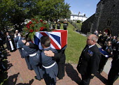 The funeral of Henry Allingham, World War I veteran and aged 113 the oldest man in world, at the time of his death. St Nicholas Church, Brighton UK 2009 - Howard Davies - 30-07-2009
