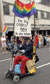 The ' oldest gay in the village ' leads Gay Pride in Brighton, UK 2009 - Howard Davies - 01-08-2009