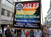 ASLEF members taking part in Gay Pride in Brighton, UK 2009 - Howard Davies - 01-08-2009
